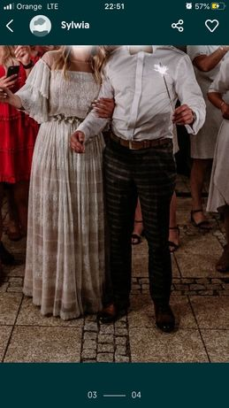Suknia ślubna boho rustic papilio