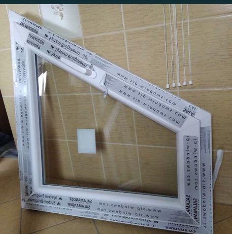 OKNO PCV 860x9350 biały, 2 szyby, lewe