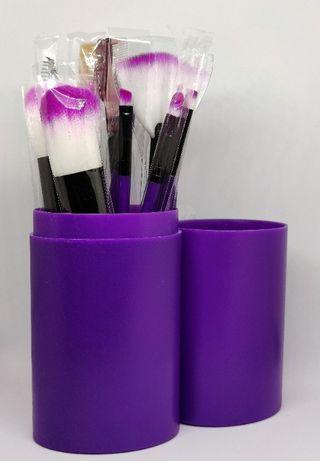 Кисти для макияжа - набор из 12 штук в тубусе, makeup