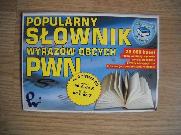 Popularny słownik wyrazów obcych PWN na 2 płytach CD NOWE