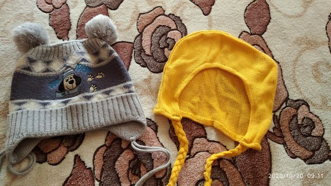 Шапочка шапка для мальчика размер 48(цена за все)