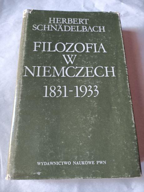 """""""Filozofia w Niemczech"""" Herbert Schnädelbach"""