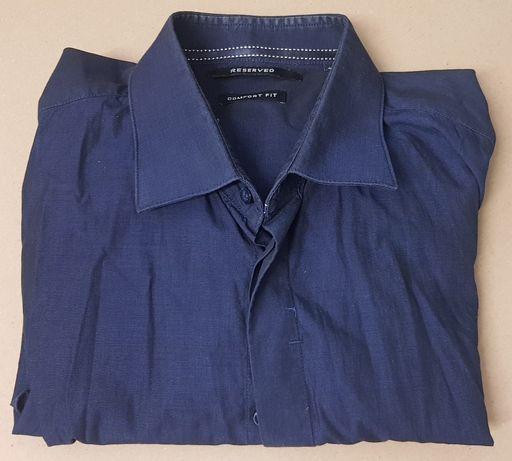 Koszula Reserved kołnierzyk krótki rękaw 42 jak nowa bawelna 100%