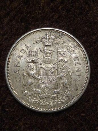 50 centów Kanada 1963 srebro pr 800