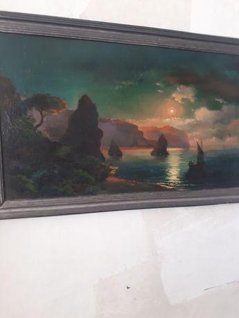 картина маслом. репродукция Айвазовского.