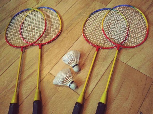 Paletki do badmintona + 2 lotki