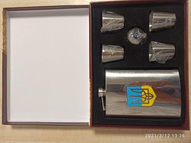Подарочный набор Фляга Moongrass плюс 4 рюмки