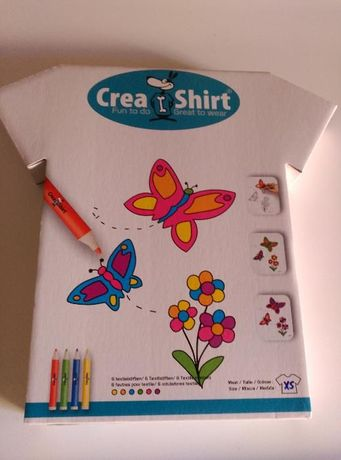 Kit / Jogo Pintar T-Shirt (inclui a T-shirt) - 4 /6 Anos