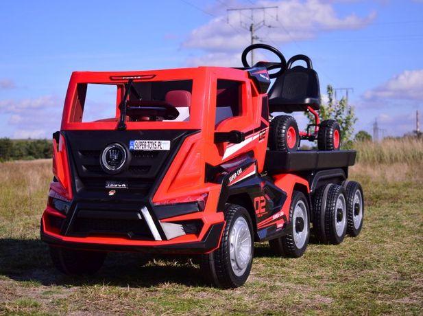 Wielki TIR + Laweta dla dzieci auto na akumulator ciągnik BDQ-2020
