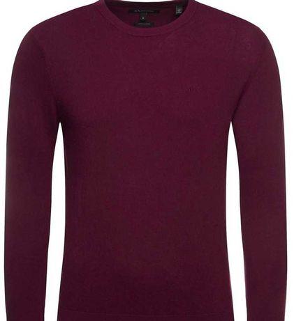 Bordowy sweterek Armani Exchange S z kaszmirem