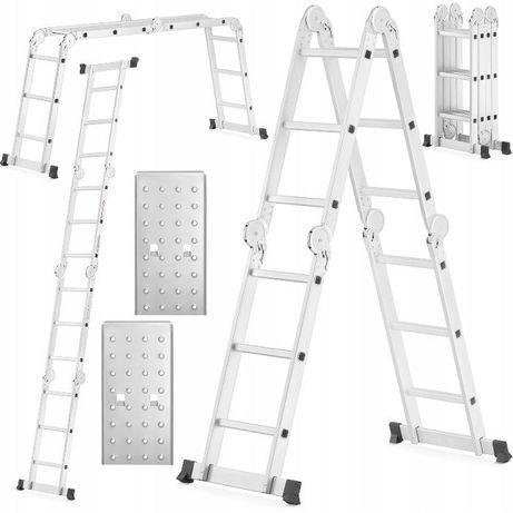 Драбина/лестница алюмінієва трансформер HIGHER 4x3/4х4+платформа