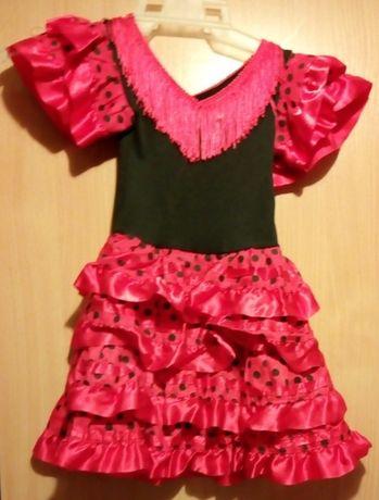 """Sukienka przebranie """"mała biedroneczka"""" na 1- 2 latka"""