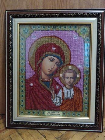 """Икона """"Матерь божья Казанская"""" чесский бисер"""