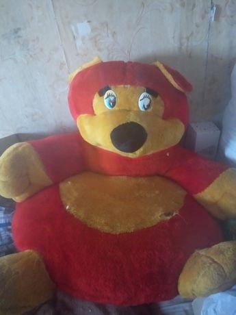 Мягкий кресло медведь