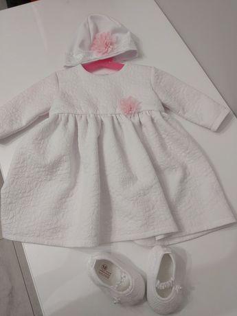 Chrzest. Sukienka, komplet do chrztu. 68 cm