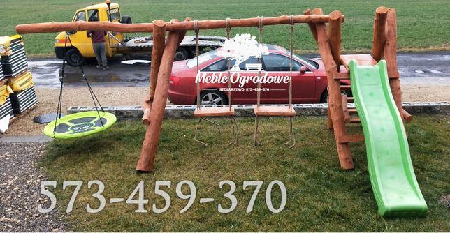Promocja! Huśtawki place zabaw meble ogrodowe lite drewno