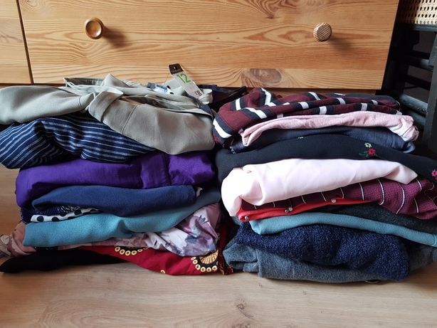 Mega paka ubrań L XL  21 szt kurtka sukienki bluzki