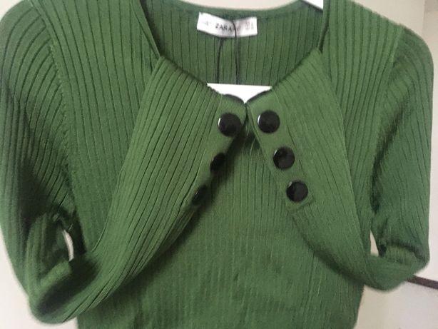 Nowy sweter ZARA zielony - rozmiar M