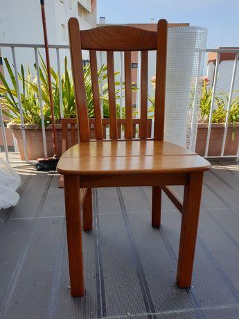 6 cadeiras de pinho