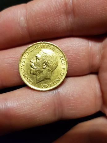 Золотая монета Король Георгий V 1915г