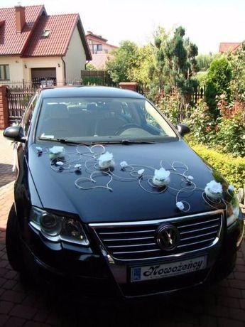 Dekoracja samochodu stroiki na samochód do ślubu ozdoby serca