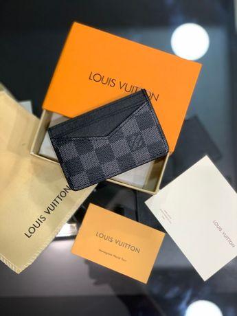 Мужской кардхолдер кошелек бумажник визитница LV Louis Vuitton k296