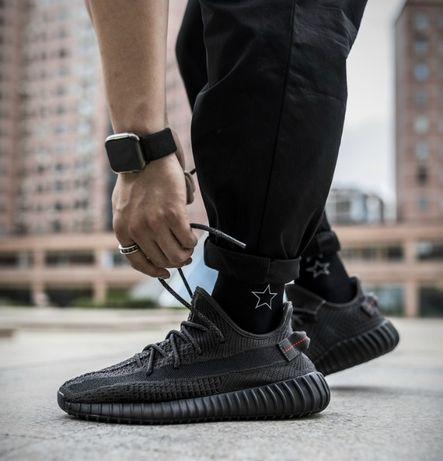 Кроссовки Adidas yeezy boost 350 V2 Static Black Адидас изи статик
