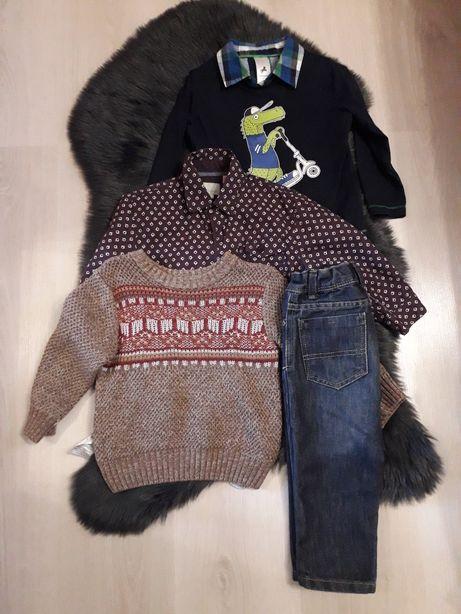 Продам на мальчика вещи пакетом (рубашка,джинсы,реглан,свитер)
