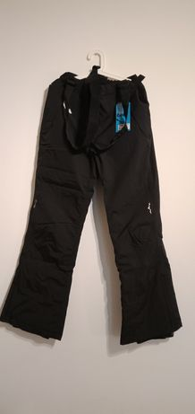 Spodnie damskie narciarskie Wynnster czarne Burgundia