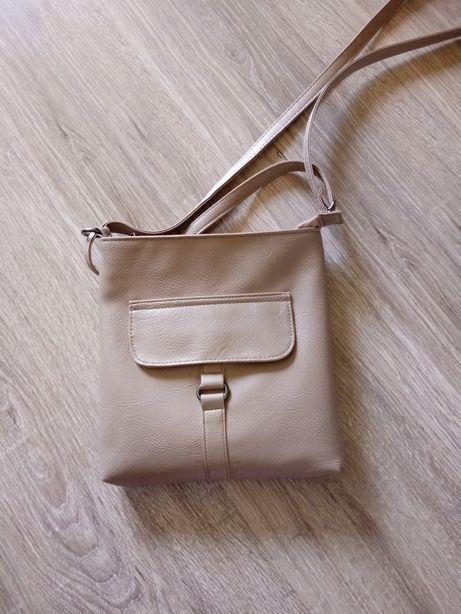 Beżowa mała torebka listonoszka