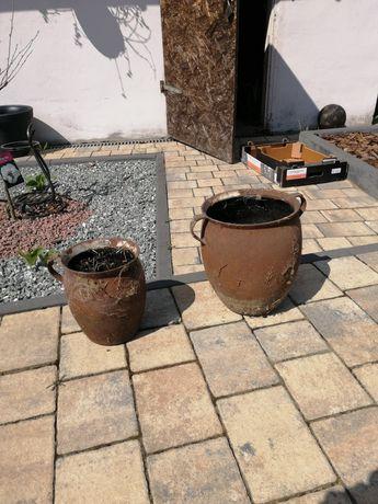 Garnki stalowe do ogrodu na doniczki. Donice ogrodowe. Doniczki