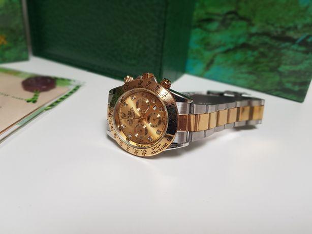 Zegarek męski Rolex Daytona srebrno złoty Nowy