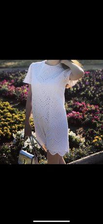 Платье  Zara из натуральной ткани  XS