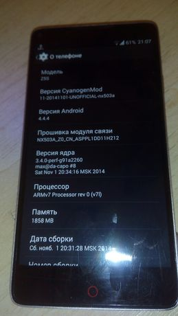Обмен Nubia Z5s GSM/WCDMA/CDMA/EVDO/TD-SCDMА планшет/нетбук/ноут/телек