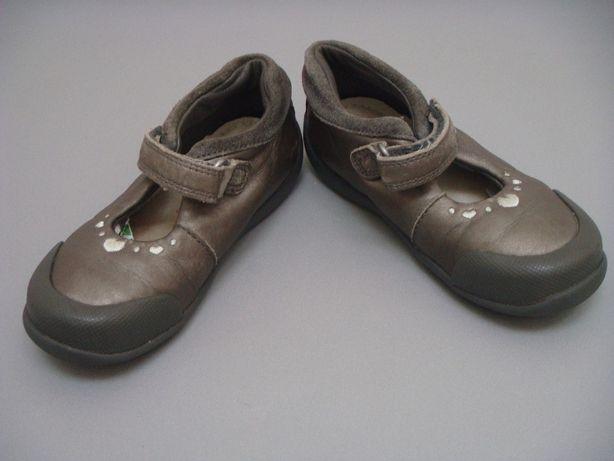 skórzane buty czółenka baleriny sandały Clarks nr 24