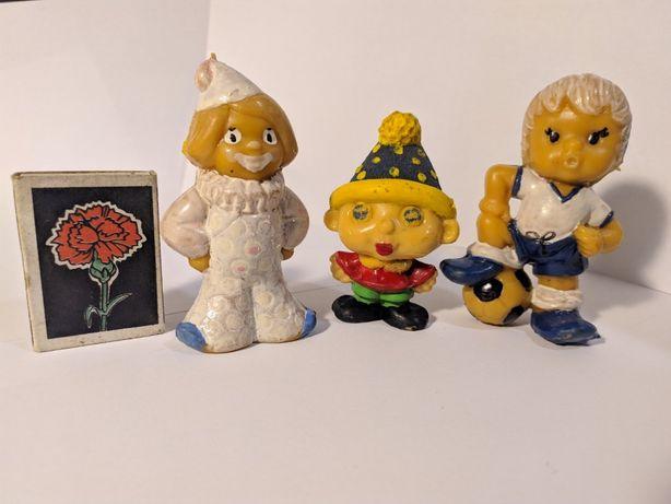 Футболист гномик клоун игрушки ссср литая резина маленькие фигурки