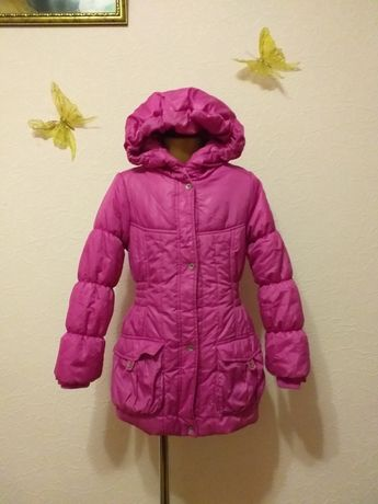 Фирменная куртка, пальто, курточка, пуховик, парка,Размер 128рост