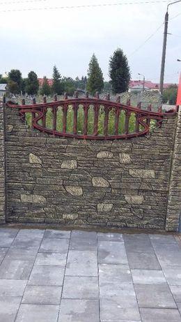 паркан бетонний, євроогорожа