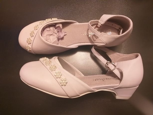 Buty komunijne dziewczęce białe