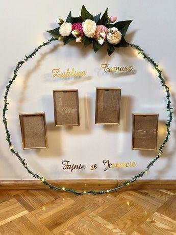 Plan stołów Tablica powitalna usadzenia gości Koło Dekoracje Wesele