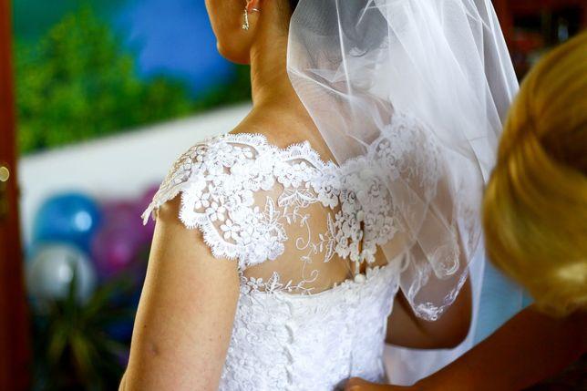 Мереживна весільна сукня