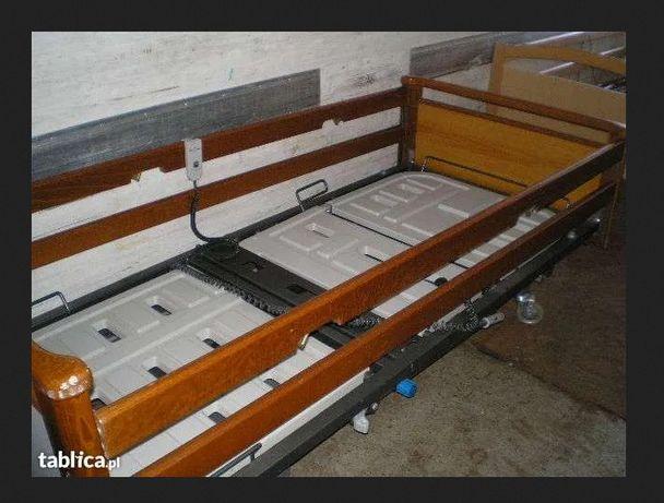 Łóżko ortopedyczne sterowane pilotem i mechanicznie, sprawne