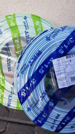 Przewód kabel NKT  YDYp  3x2,5 i 3x1,5 ,750V  ,wysyłka
