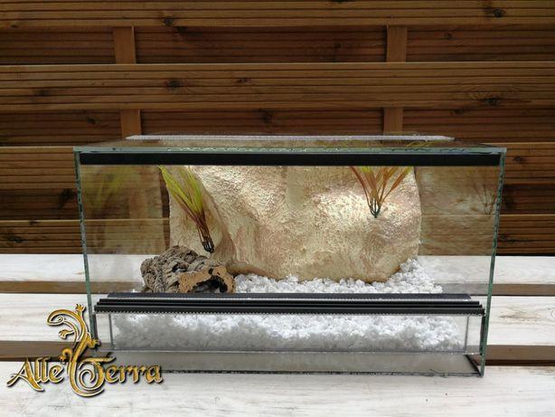 Terrarium szklane o pustynnym wystroju 40x30x23 cm. AlleTerra