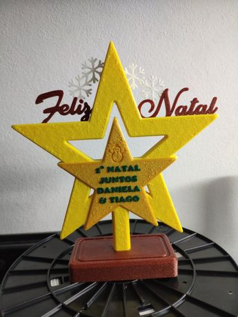 Estrela personalizada para árvore natal ou outra ocasião