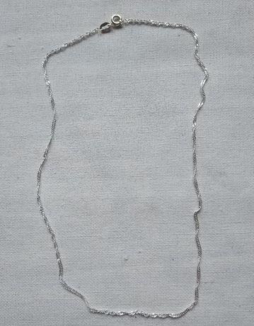 Łańcuszek posrebrzany, długi