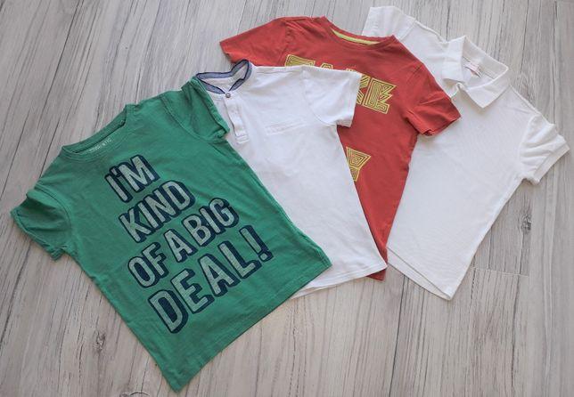 T-shirt chłopięcy - zestaw 4 szt. - r. 140 cm