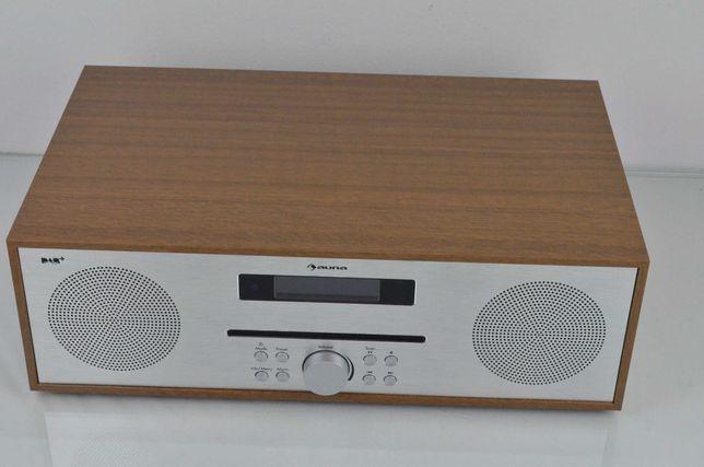 Mini wieża Silver Star Bluetooth 2x20W DAB+ aluminium kolor brązowy