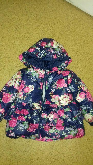 Утепленное детское пальто