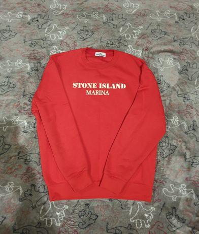 Крутой свитшот Stone Island Marina с фосфорным логотипом